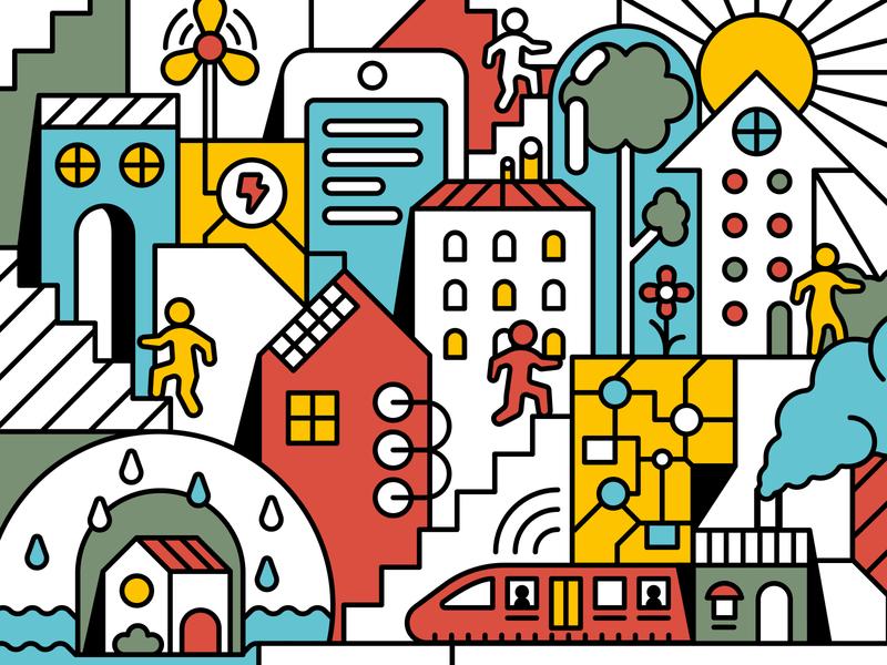 Solving Housing Crisis Cover crisis illustrations housing