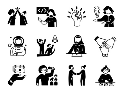 Redefining Women Icon collection lovebloodcreative opportunity respect iconography icondesign community work design genderequality illustration representation women icons icon