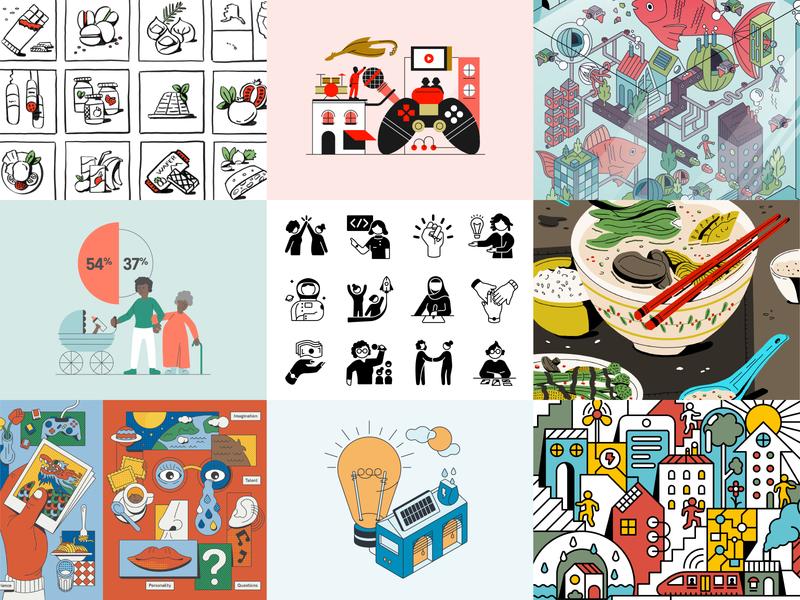 Bestnine 2019 art design icon infographic illustration