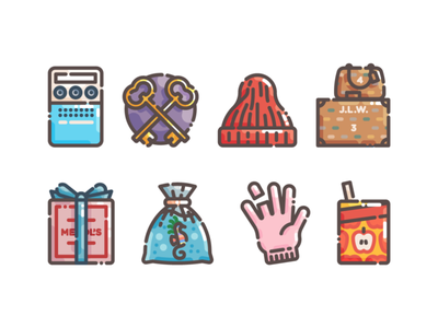Wes Anderson icon set illustration monoline vector illustation crayon ponyfish the royal tenenabaums fantastic mr fox moonrise kingdom darjeeling limited life aquatic wes anderson flat illustration flat design icon set icons icon
