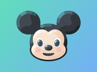 Flat Mickey Mouse