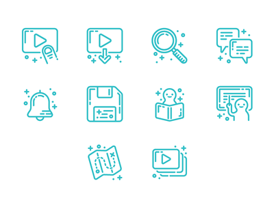 Skillshare Icon Set (Workshop) line art icon set icons icon digital illustration illustration