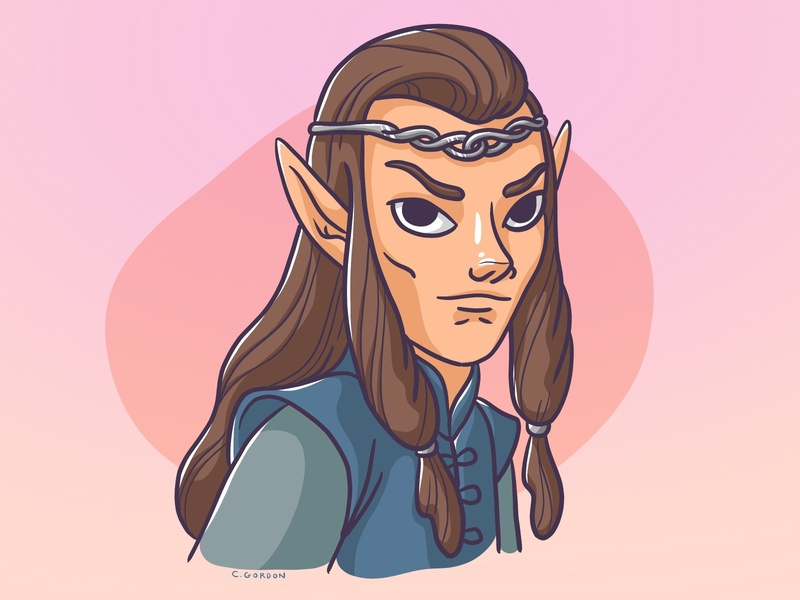 #SMAUGUST Art Challenge 17 | Elrond elf elrond draw daily smaugust lord of the rings lotr art challenge procreate digital illustration illustration