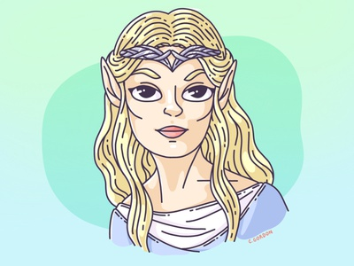 #SMAUGUST Art Challenge 27   Galadriel galadriel elf draw daily smaugust lotr lord of the rings art challenge procreate digital illustration illustration