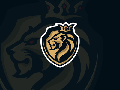 Golden Lion sport gaming branding brand esport logo esport