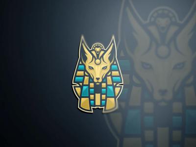 Anubis pharaoh logo management company branding brand egypt sport esport icon mascot