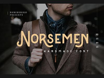 Norsemen - Handmade Font download envato creativemarket fonts handlettering handmade typegang lettering vintage font