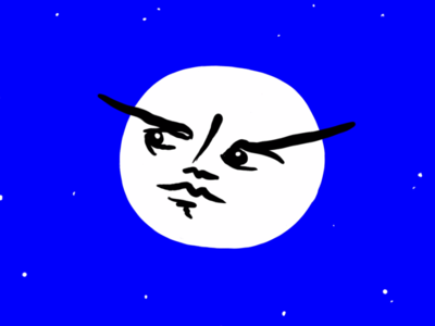 Vaguely disappointed moon