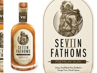 Seven Fathoms Rum Label