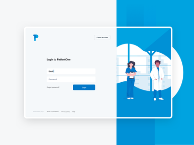 PatientOne inspiration branding illustration ux ui medical clinical