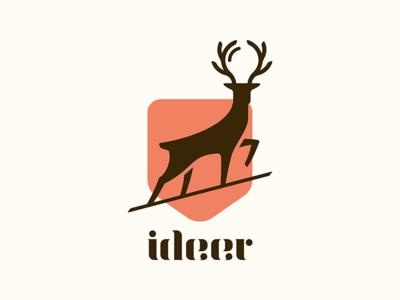 Ideer lightbulb idea shield crest deer
