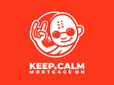 Keep Calm & Mortgage On logo sunglasses rock-on rock on monk