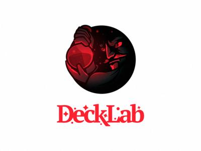 DeckLab lab alchemy alchemist wizard scientist magician logo