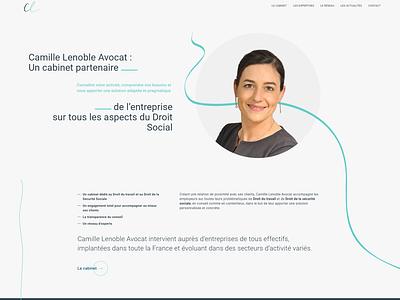 Site avocats camille lenoble development website avocat