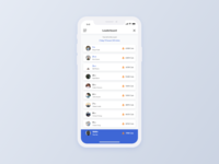 Fitness App Leaderboard | Daily UI 019