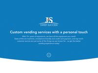 Vending Service Website Concept