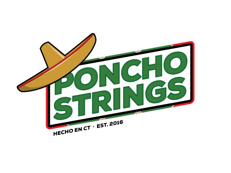 PonchoStrings small business fun lacrosse logo sports