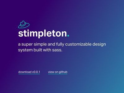 stimpleton - a sass grid and design system grid system system design system responsive ui design sass grid