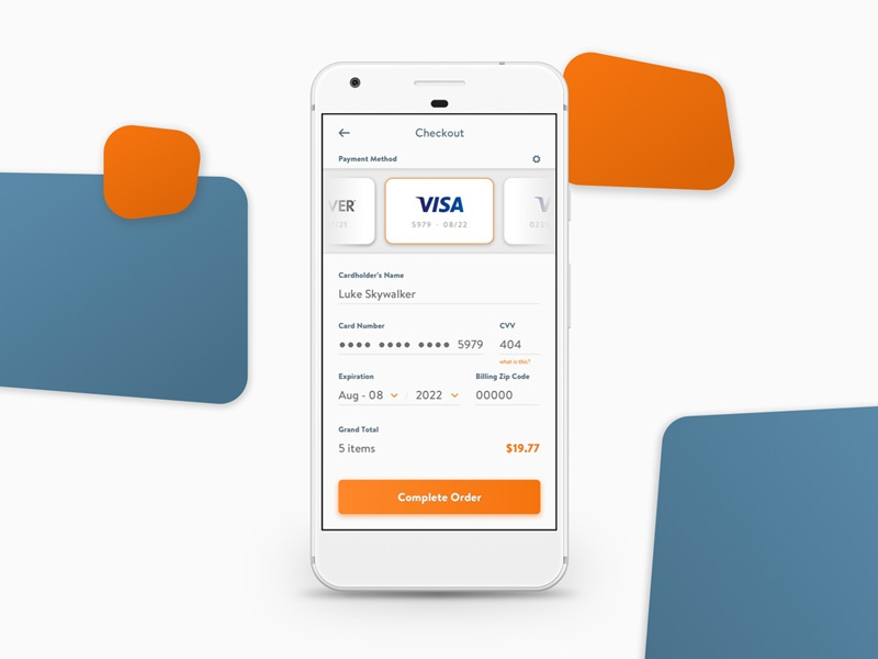 Day 002 - Credit Card Checkout daily ui ui checkout dailyui