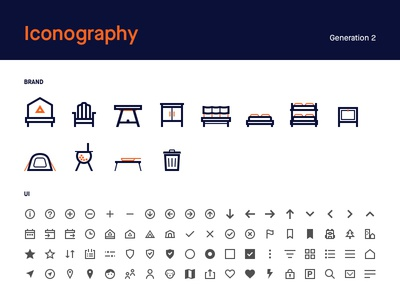 Iconography experiments camping travel svg illustration visual brand ui iconography icon vector