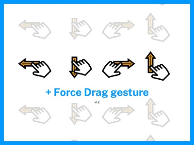 Updates — Interaction / UX Gesture Kit visual vector ux ui sketch interaction gesture freebie free