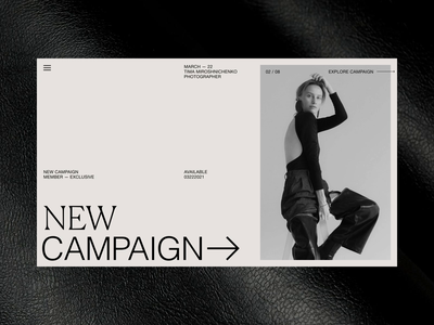 New Campaign — Animated Homepage Exploration branding ux ui motion graphics graphic design animation design typography