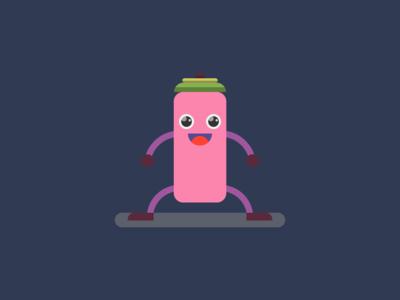 Funny Stick Boy - Flat Character Design