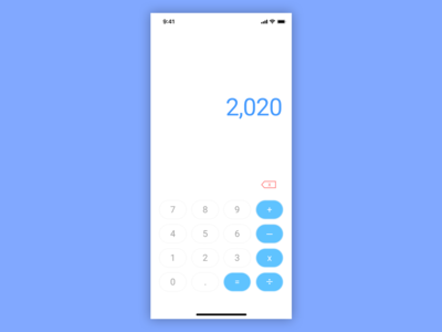 Daily UI Challenge 004 - Standard Calculator