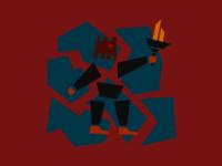 Character Illustration - Dark Warrior