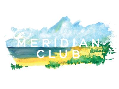 Meridian Club For Dribbb logo meridian club turks caicos seth mcwhorter watercolor painting design graphic illustration