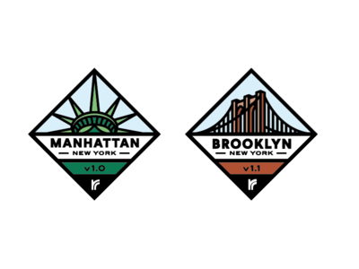 Patch Designs brooklyn york new manhattan icon vector mark badge logo seth mcwhorter
