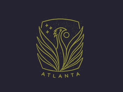Atlanta mcwhorter seth bird phoenix design mark badge logo georgia atlanta