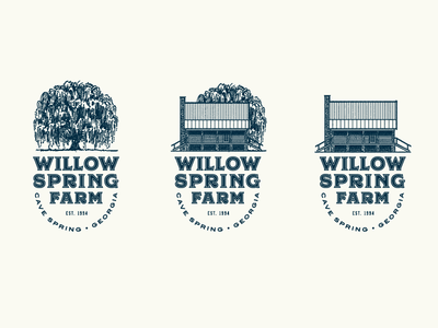 Willow Spring Farm design mcwhorter seth illustration lettering typography farm architecture tree logo