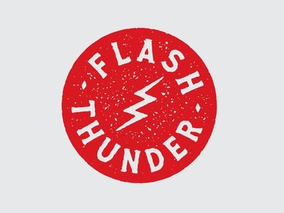 Flash Thunder mcwhorter seth lightning graphic design badge logo