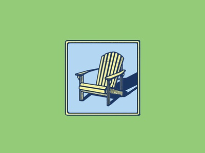 Take a Seat illustration graphic mcwhorter seth adirondack chair design logo sketching drawing