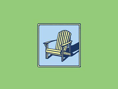 Take a Seat illustration graphic mcwhorter seth adirondack chair design logo sketching drawing