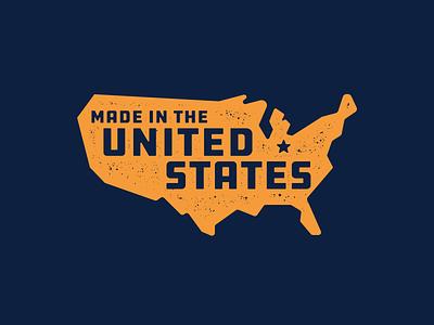 Made In The US states united states united usa design logo illustration typography badge mark graphic mcwhorter seth