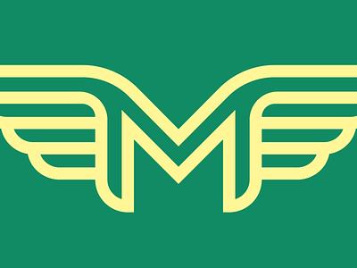 M Wings vector graphic logo illustration design seth mcwhorter