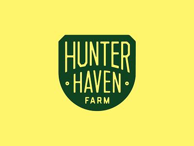 HHF Badge hunter farm branding typography badge mark logo illustration design seth mcwhorter