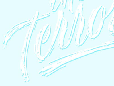 The Terror seth mcwhorter lettering art design calligraphy ink brush calligraphy brush lettering typography