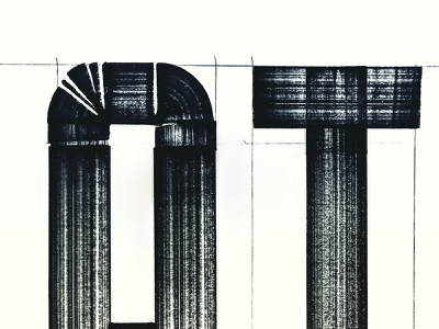 ATL Type Experiment marker font hand lettering copic marker pen typography drawing graphic illustration design seth mcwhorter