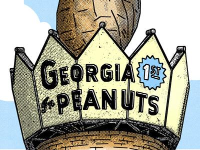 Georgia 1st in Peanuts peace sign peanut georgia sketch drawing graphic illustration design seth mcwhorter