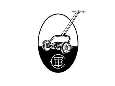 TBC Mower Logo drawing graphic illustration sketch badge mark mower golf logo design seth mcwhorter
