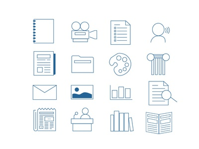 Library guide icons