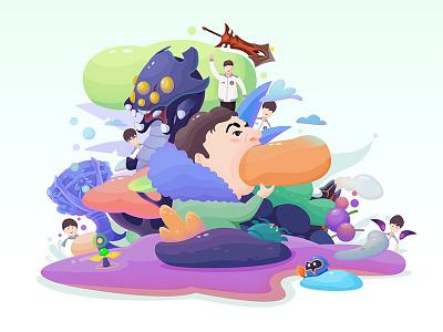 Congratulations Ig color illustration