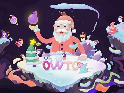 Merry Christmas birthday christmas festival color illustration
