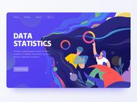 Data Statistics ui web illustration