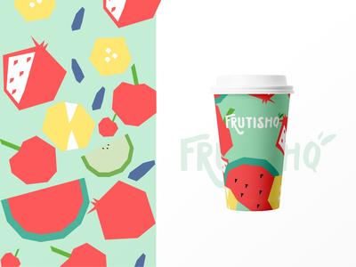 Frutishq typography illustration design design studio branding agency