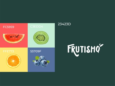 Frutishq typography branding design design studio branding agency