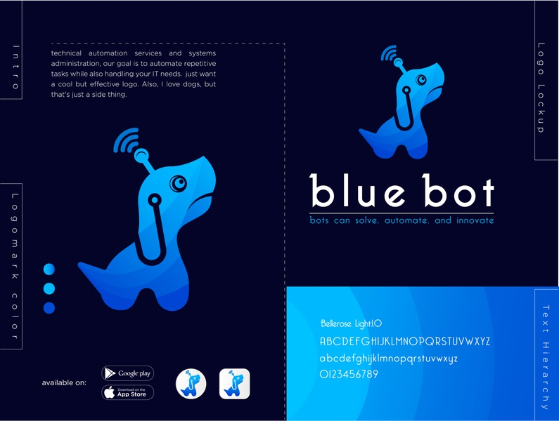 Blue Bot logo design